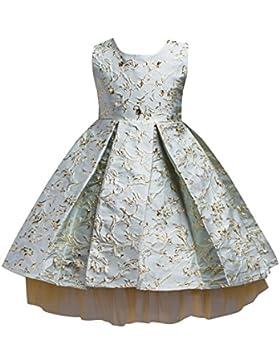 Brightup Niños Bronceado Vestidos De Bordado Niñas Vestidos De Novia Vestidos De Dama Vestidos De Princesa