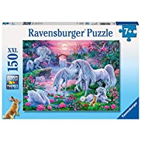 "Ravensburger 10021 7 ""Unicorns At Sunset Puzzle (150-Piece)"