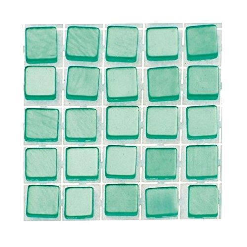 GLOREX Poly-Mosaic, Kunststoff, Türkis, 15 x 5.6 x 0.3 cm
