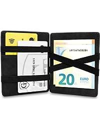 GenTo® Magic Wallet Vegas - TÜV geprüfter RFID, NFC Schutz - Dünne Geldbörse mit Münzfach - Geschenk für Damen und Herren mit Geschenkbox - erhältlich in 8 Farben | Design Germany