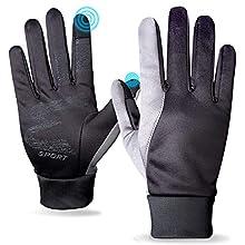 OUCAM Winter Running Gloves for Men Women,Touchscreen Running gloves for Men Cold Weather Black Warm Light Weight Windproof Gloves for Climbing,Skiing,Biking, Driving, Hiking Outdoor Sports