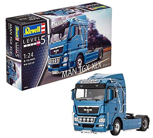 Revell Modellbausatz LKW 1:24 - MAN TGX XLX im Maßstab 1:24, Level 5, originalgetreue Nachbildung mit vielen Details, Lastwagen, Truck, 07426 (Lkw-details)
