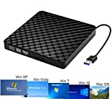 Slim portable optical USB 3.0 CD DVD-RW drive, external CD/DVD-RW writer burner drive