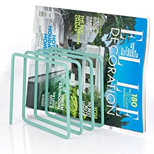 Block Desktop Steel Magazine Rack, Blue
