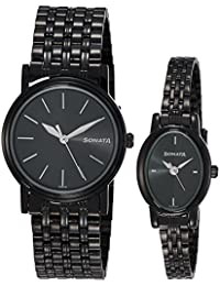 Sonata Analog Black Dial Unisex Watch-sonata-NK11418100NM01