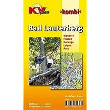 Bad Lauterberg: 1:10.000 Stadtplan mit Freizeitkarte, 1:20.000 mit allen Wanderwegen (KVplan Harz-Region / http://www.kv-plan.de/Harz.html)