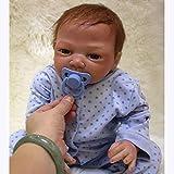 Minsong Lebensecht Reborn Babypuppe Weiche Silikon Vinyl 50cm 20 Zoll Wiedergeborene Baby Puppen, die Reales Neugeborenes Baby Spielzeug Geschenk Schauen