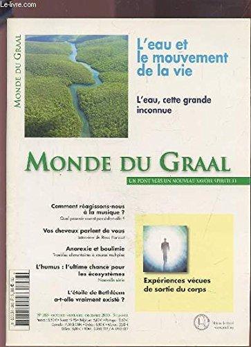 LE GRAAL - L'EAU ET LE MOUVEMENT DE LA VIE, L'EAU CETTE GRANDE INCONNUE - MONDE DU GRAAL N°283 OCOTBRE-NOVEMBRE-DECEMBRE 2010 - 54 ANNEE : COMMENT REAGISSONS-NOUS A LA MUSIQUE? + VOS CHEVEUX PARLENT DE VOUS + ANOREXIE ET BOULIMIE + L'HUMUS...ETC.
