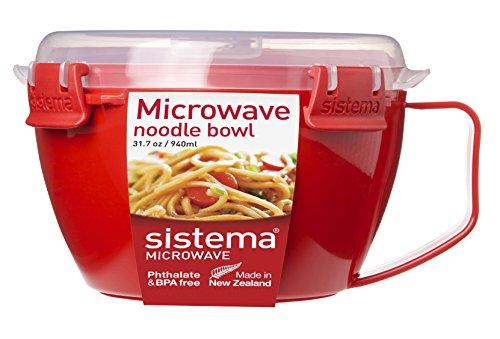 Sistema 1109 Mikrowellen-Nudelbowl To Go, 940 ml, rot