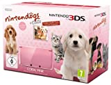 Console Nintendo 3DS - rose corail avec Nintendogs + cats Golden Retriever & ses...