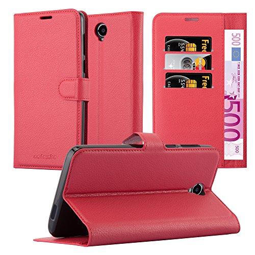 Preisvergleich Produktbild Cadorabo Hülle für Cubot MAX - Hülle in Karmin ROT - Handyhülle mit Kartenfach und Standfunktion - Case Cover Schutzhülle Etui Tasche Book Klapp Style