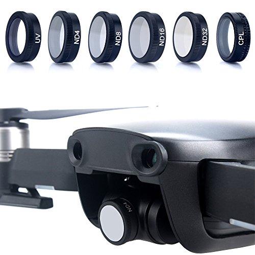 YHLVE Für DJI Mavic Air Drone ND4 ND8 ND16 ND32 CPL UV Wasserdichte Kamera Len Filter (Hydrophobe Filter)