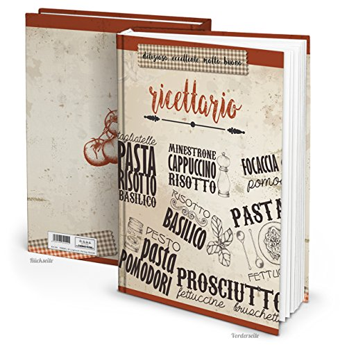 XXL Hard Cover libro di ricette Italiano fai scrivere ricettario le mie Ricette ricettario taccuino regalo per ricette collezionare 164pagine bianche–libro da cucina