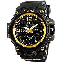 NICERIO Reloj electrónico Multifuncional Impermeable Relojes de Pulsera Digitales Relojes Deportivos al Aire Libre (Dorado)