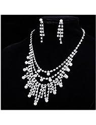 GYJUN Bijoux Colliers décoratifs / Boucles d'oreille Mariage / Soirée / Quotidien / Décontracté Perle / Alliage / Strass 1set Femme Argent