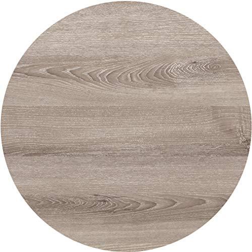serladur Tischplatte Dekor Messina Oak/Eiche gekalkt 80 cm rund, wetterfest für Garten, Terrasse, Balkon in Gastronomiequalität Ersatztischplatte Bistro Tisch -