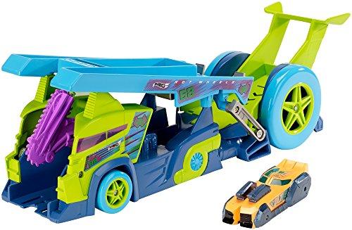 Mattel Hot Wheels DHY26 De plástico vehículo de Juguete - Vehículos de Juguete, Tráiler, De plástico, Split Speeders, X-Blade Rig, 4 año(s)