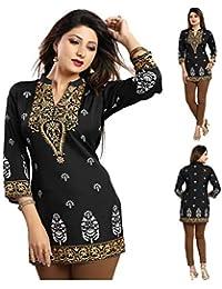 68f48a9f4cdf9 Unifiedclothes Women Fashion Fancy Indian Kurti Tunic Kurta Top Shirt Dress  MI570