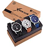 Rich Club Analogue Black Blue Dial Men's Watch - REL-OCT-DENIM