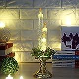 Amphia Weihnachten Dekoration - Party-Dekoration leichte Kerze zu Hause Flameless elektronische Requisiten, Kerze Ornament