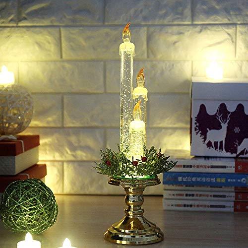 Amphia Weihnachten Dekoration - Party-Dekoration leichte Kerze zu Hause Flameless elektronische Requisiten, Kerze Ornament (Haken Zu Hängen Sie Einen Kranz)