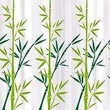 Tatkraft Bamboo Green Cortina Ducha 180 X 180 cm material PEVA 12 Anillos