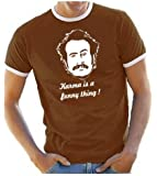 Coole-Fun-T-Shirts Herren T-Shirt My name is Earl - Karma is a funny thing RINGER