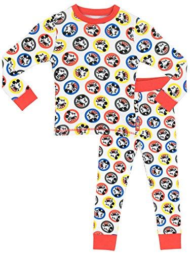 Disney-Mickey-Mouse-Pijama-para-Nios-Mickey-Mouse-Ajuste-Ceido