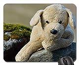 Gaming-Mauspads, Mauspad, Stofftier Plüsch Hund Dog Rock Natur