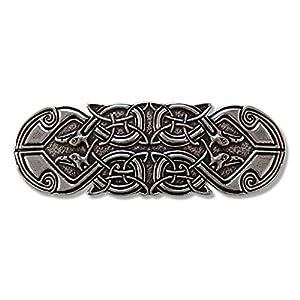 Haarspange Keltischer Pfau – Spangenlänge: 70 mm.