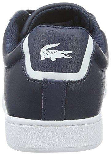 Lacoste Carnaby Evo Bl 1, Baskets Basses Femme Bleu (Nvy)
