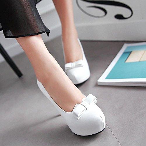 Donna Tacco Supplementari Spillo Tacchi L'arco Con Formati Coolcept Scarpe Slip Bianco Moda On EqwZK1A75