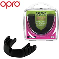 OPRO Snap-Fit Protector bucal, Unisex Adulto, Negro Azabache