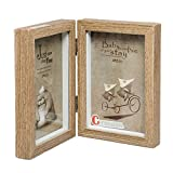 Cecinion Holz-Bilderrahmen, drehbarer doppelter Bilderrahmen, Doppel, 10,2 cm - 15,2cm