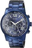 Guess U0379G5 - Reloj para hombres, correa de acero inoxidable color azul