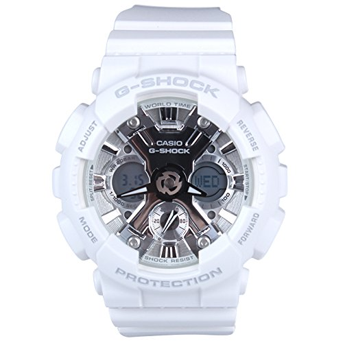 Casio GMAS120MF-7A1 G-Shock S Series 46mm Women's Watch (White and Grey/Silver)