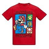 Nintendo Super Mario Bros Chicos Camiseta Manga Corta - Rojo - 104