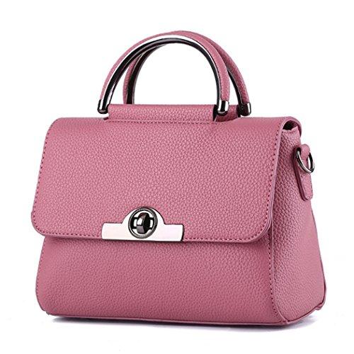 Borsa della borsa della borsa di Tote del sacchetto di spalla della nuova borsa delle donne Rosa scuro