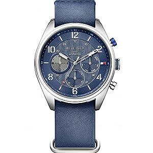 Tommy Hilfiger hombre-reloj analógico de cuarzo cuero 1791187