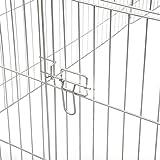 WOLTU® Freigehege Laufstall Gehege Kleintiergehege Welpenauslauf mit Ausbruchsperre 216 x 116 x 65 cm, mit Abdeckung, inkl. Sonnenschutz, Verzinkte Ausführung HT2066m1-c - 3