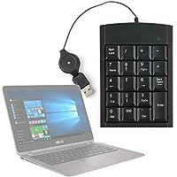 Teclado Numérico Con Cable Retráctil Para Portátil Acer Predator 17 X / Asus ZenBook Flip UX360UA - Con Conexión USB - DURAGADGET
