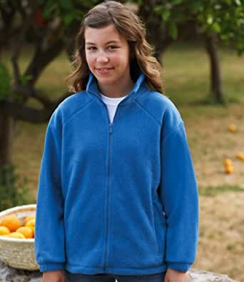 Fruit of the Loom Kids Outdoor Fleece Jacket Royal 3-4