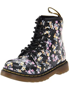 Dr. Martens INFANTS Patent BLACK - Zapatos con cordones de cuero infantil