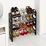 Vinsani 4 Tier Free Standing Shoe Rack Stand Storage Organiser Shelf Home Furnit