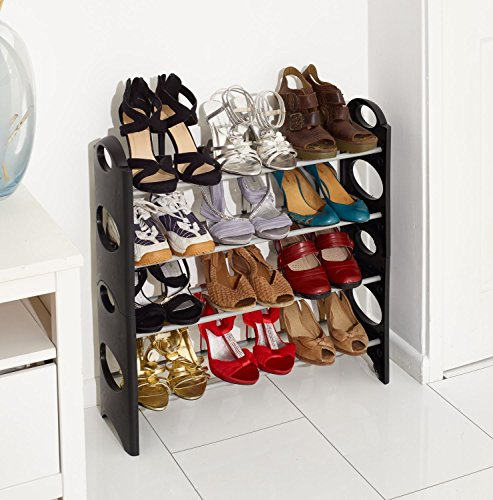 vinsani-4-tier-free-standing-shoe-rack-stand-storage-organiser-shelf-home-furniture-black