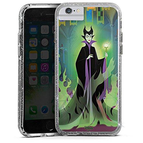 Apple iPhone 7 Plus Bumper Hülle Bumper Case Glitzer Hülle Disney Dornroeschen Merchandise Geschenk Bumper Case Glitzer silber