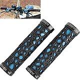 Fahrrad Griff Stücke / rutschfest dank Wabenstruktur in blau / schwarz