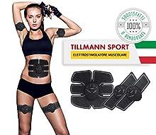 Tillmann sport   EMS significa : stimolazione muscolare elettronica. Stimolazione usata nei centri fitness e fisioterapici. Con questo sistema, diverse fasce muscolari vengono simultaneamente stimolate. Rispetto alle tecniche simultanee, l'EMS penetr...