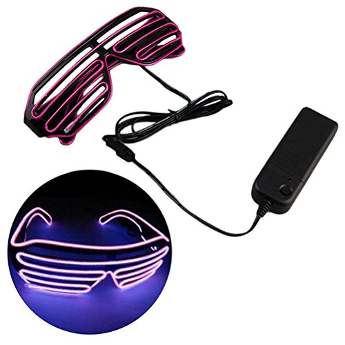 fixuk Cool Fashion blinkende EL Draht Gläser Glowing Halloween Party Rave Kostüm mit LED (Kostüme Usa Dance)