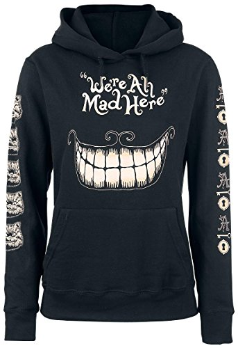 Alice In Wonderland Mad Mouth Felpa donna nero M